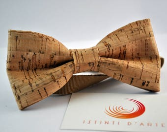 Handmade bow tie made up of  cork fabric