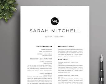 Black & White Resume Template 8 | Modern, Professional, Creative, Boutique CV | Microsoft Word | Instant Download | Free Job Seeking Tools