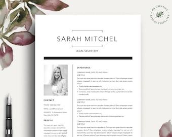 Black & White Resume Template 7 | Modern, Professional, Creative, Boutique CV | Microsoft Word | Instant Download | Free Job Seeking Tools