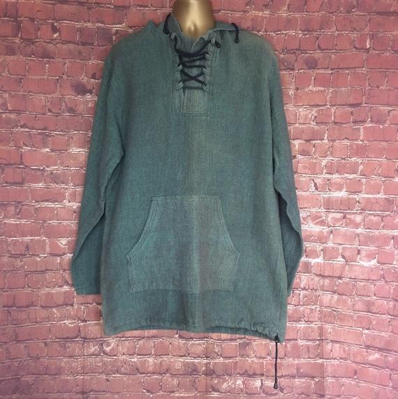 Vintage Green medieval Pixie Hoodie,Elven hoodie,