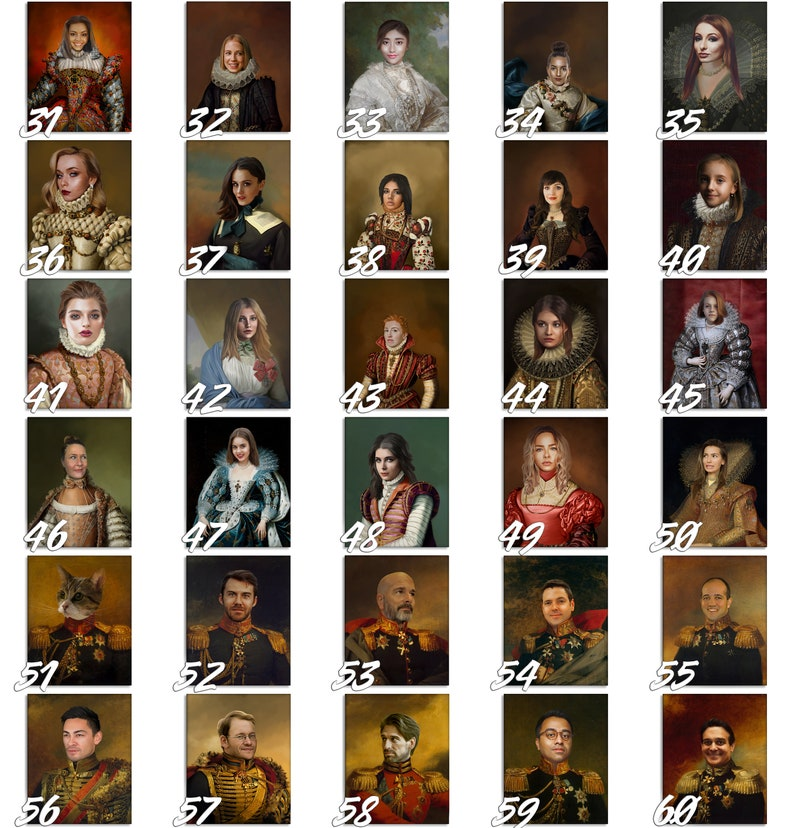 Custom Oil Painting of your Husband or Boyfriend as a 18th Century Renaissance Duke Replace Face Portrait Painting from photo,