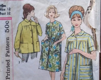 e7f7c2c19a44d Simplicity 4572 Vintage Pattern  Womens Duster and Smock