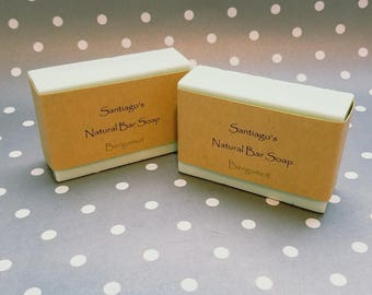 Bergamot all natural bar soap // for him or her // dye free soap // Child safe soap //health and beauuty