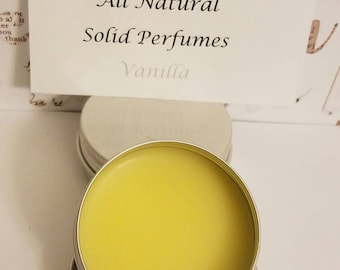 All natural solid perfume- Vanilla