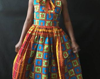 Elegant Wear,African Print Dress, Ankara Dress, Party Dress African Clothing Sleeveless Dress African Dress African Fashion Women's Clothing