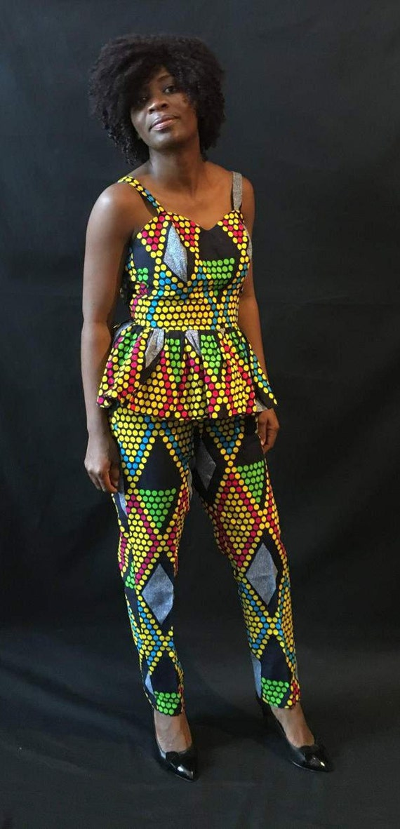 African Dress African African Sleeveless Fashion African Set Party Clothing Dress Princess Ankara Women's Clothing Pants Dress wBYaPxg