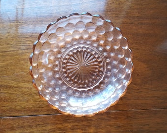 Pink Anchor Hocking Fire King Bubble Bowl