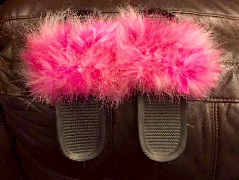 Furry Slide Sandals