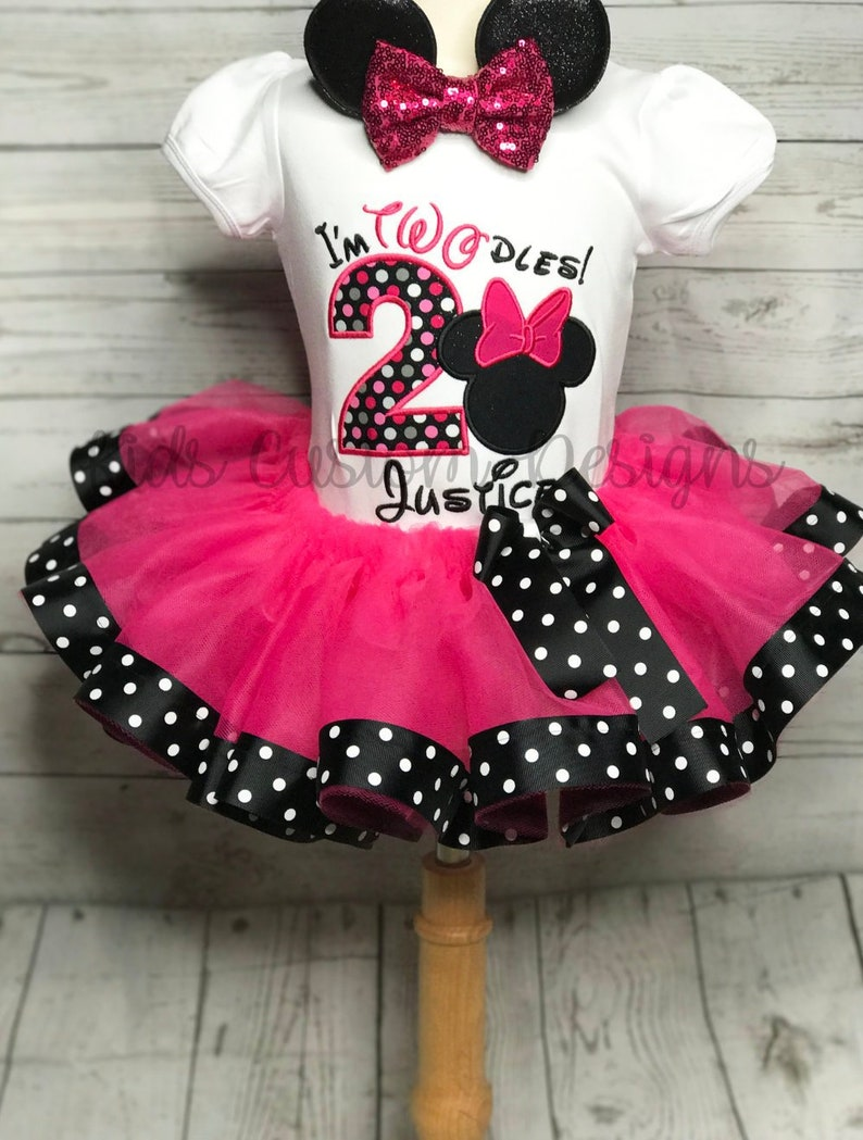 68cedad72e76b Minnie Mouse Birthday outfit / 2nd Birthday Minnie tutu outfit | Etsy