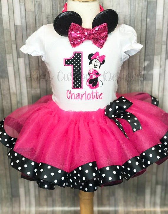 Minnie Mouse 1st Birthday Outfit.Minnie Mouse Birthday Outfit Minnie Mouse Birthday Shirt Minnie Mouse 1st Birthday Outfit Minnie Mouse Tutu First Birthday Outfit