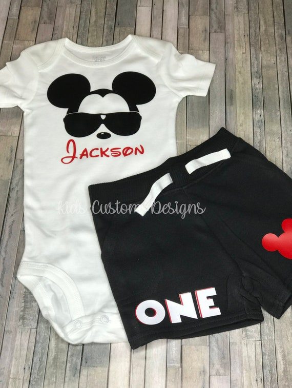 Mickey Mouse 1st Birthday Outfit.Mickey Mouse Birthday Outfit Mickey Mouse Mickey Mouse Birthday Shirt Mickey Mouse Mickey Mouse 1st Birthday Shirt
