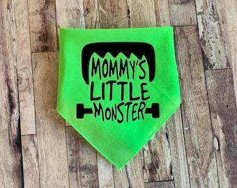 Mommys Little Monster Halloween Dog Bandana