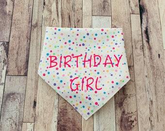 Birthday Girl - Dog Bandana - Confetti Bandana