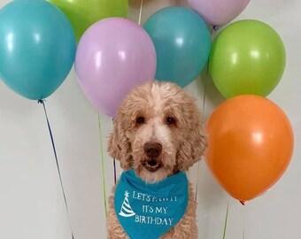 Let's Pawty It's My Birthday - Dog Bandana