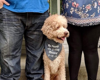 My Parents Are Getting Married Personalized Dog Bandana