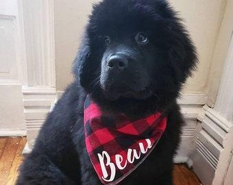 The Lumberjack - Personalized Flannel Dog Bandana