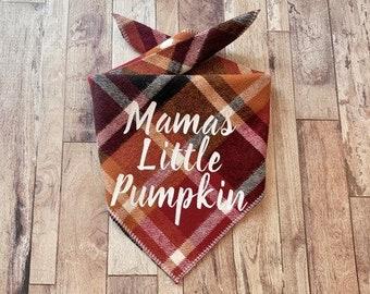 Mamas Little Pumpkin - Flannel Dog Bandana