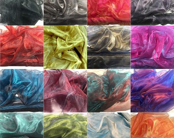 Two Tone Sheer Organza Fabric Voile for Curtain Weddings Decor 145/150cm Wide