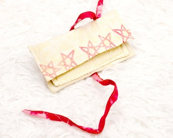 Tobacco pouch Pentram Tobacco Bag handmade self-made unique sewing yellow red diy stars beauty bag bag bag bag bag bag daily