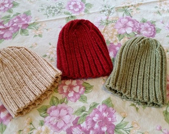 Knit Baby Hats (All 3)