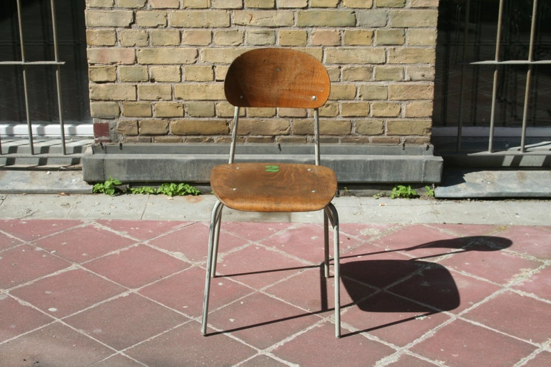Prezzo della scuola vintage set 4 sedie cucina bar sgabelli di etsy