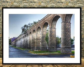 Aqueduct of Guadalajara,Mexico,Instant Download                             ,Mexico,Wall Decor,Printable Art,Canvas Print,Mexico Posters