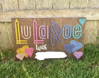 LulaRoe Consultant string art sign 24X15