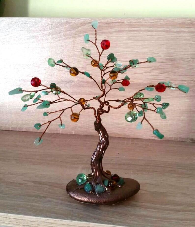 Gemstone Tree Jade Tree Jade Gift Crystal Tree Wire Tree Etsy