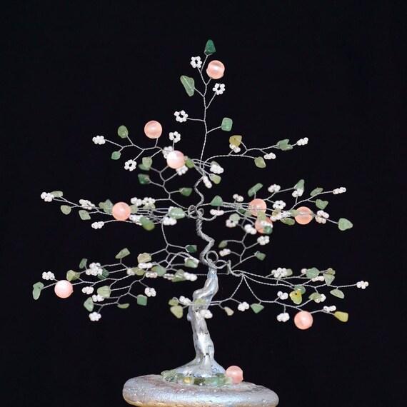 Gemstone Tree 35th Anniversary Jade Sculpture Jade Gift Etsy