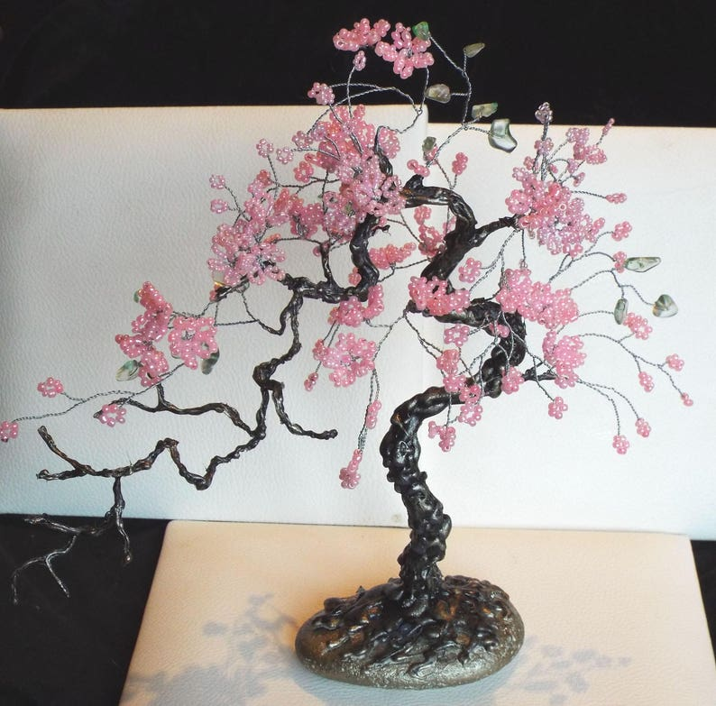Bonsai Tree Bonsai Souvenir Beaded Tree Bonsai Sakura Tree Etsy