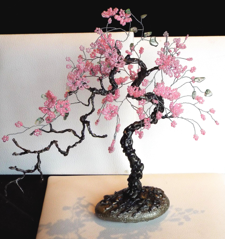 Bonsai Tree Bonsai Souvenir Beaded Tree Bonsai Sakura Tree Etsy