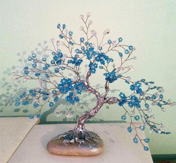 Gemstone Tree Bonsai Tree Gift Gemstone Bonsai Crystal Etsy