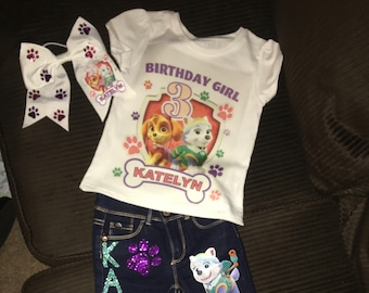 custom Paw patrol birthday outfit