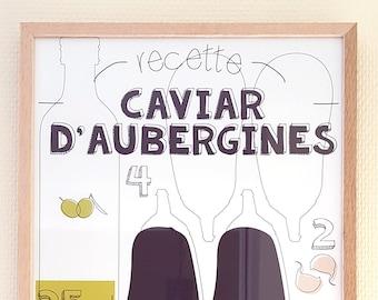 "Kitchen art ""Eggplant caviar"""