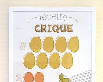 """Graphic recipe print """"Crique"""""""