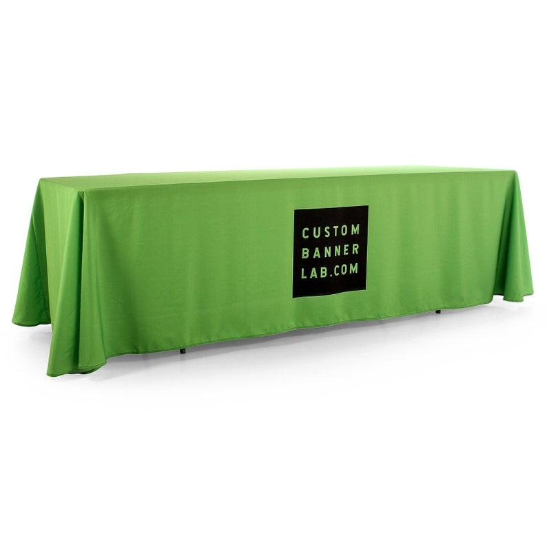 Custom 4-sided Closed Back Logo Tablecloth