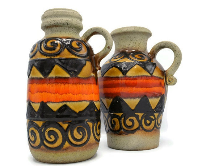 Set of Scheurich vases