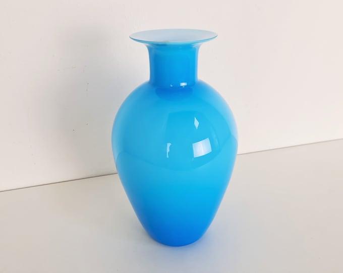 Featured listing image: VeArt Venezia Vase, 1980s, Blue Opaline