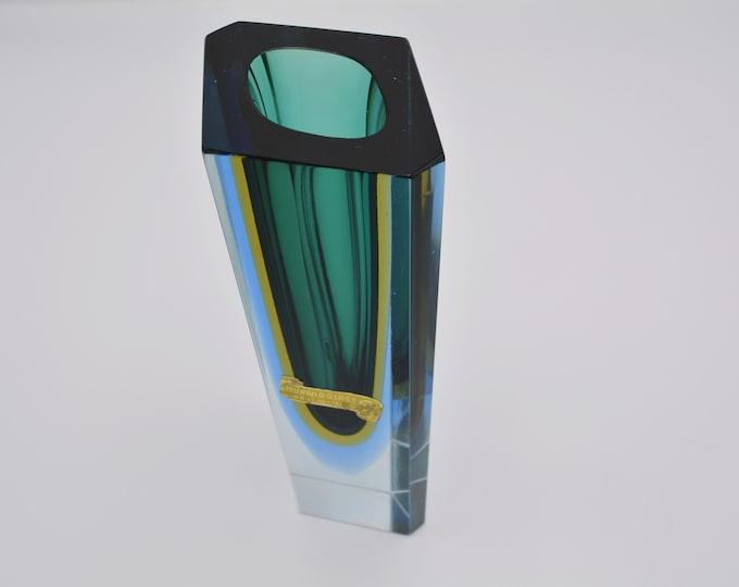 Murano Mandruzzato Sommerso vase