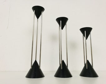 Memphis style candlestick holders