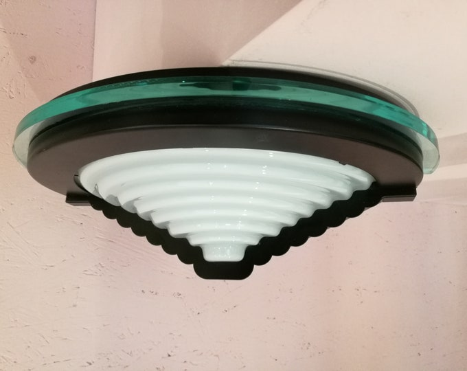 Postmodern wall sconce accent lamp, 80's