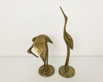 Set of vintage brass birds