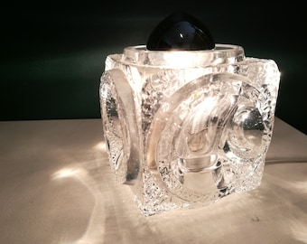Peill & Putzler Glass Ice Cube Table Lamp