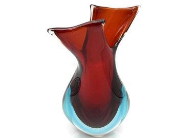 XL Murano Sommerso vase by Flavio Poli