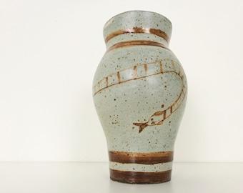 Naive Ceramic Vase Snake Decor