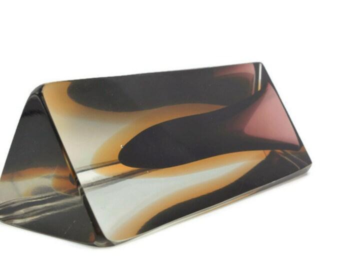Murano Sommerso triangular vase