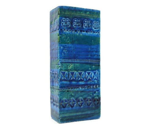 Featured listing image: Bitossi vase Rimini Blue, by Aldo Londi