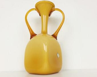 Empoli Cased Vase Amber