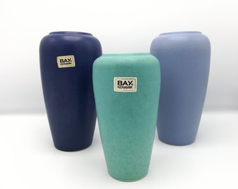 Bay Keramik, set of 3 1980s vases