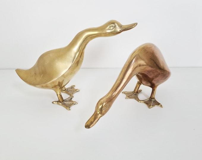 Featured listing image: Vintage brass Ducks